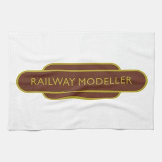 Modelador ferroviario Brown del tótem ferroviario Toallas