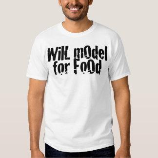 Modelará para la comida playeras