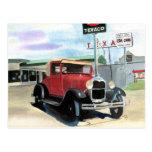 Modele una postal del coche antiguo