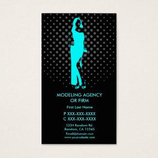 Modeling agency custom business card