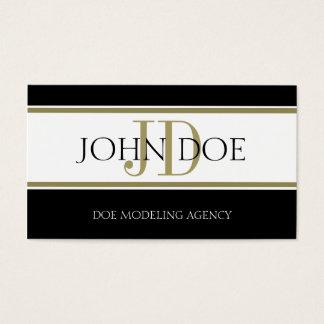 Modeling Agency Gold Stripe W/W Business Card