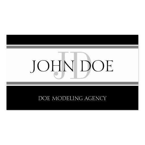 Modeling Agency Stripe W/W Business Card