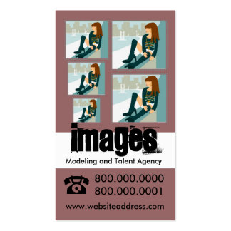 Modeling and Talent Agency Business Cards