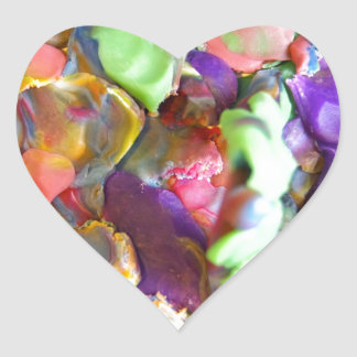 Modeling Clay Heart Stickers