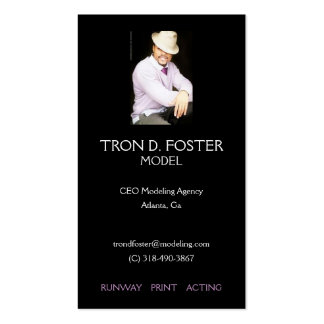 Modeling Profile Card Double-Sided Standard Business Cards (Pack Of 100)