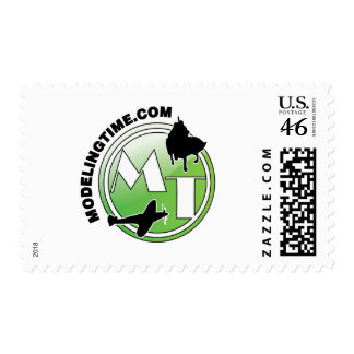 modelingtime green  verde glossy postage stamps