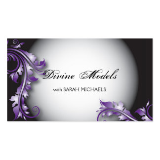 Modelling Agency Business Card Bold Fancy Floral