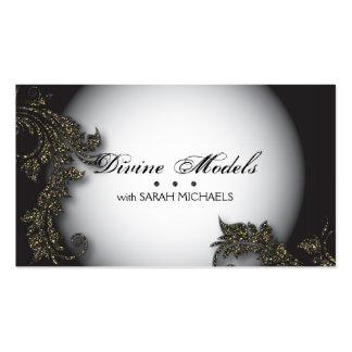 Modelling Agency Business Card Bold Fancy Glitter