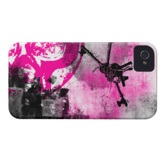 Modelo 102 del Grunge iPhone 4 Case-Mate Protector