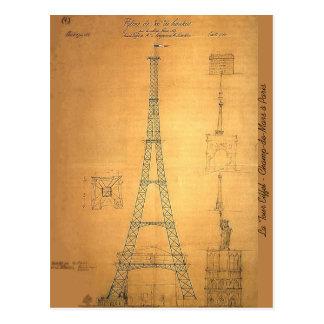 Modelo 1884 de la torre Eiffel Postal