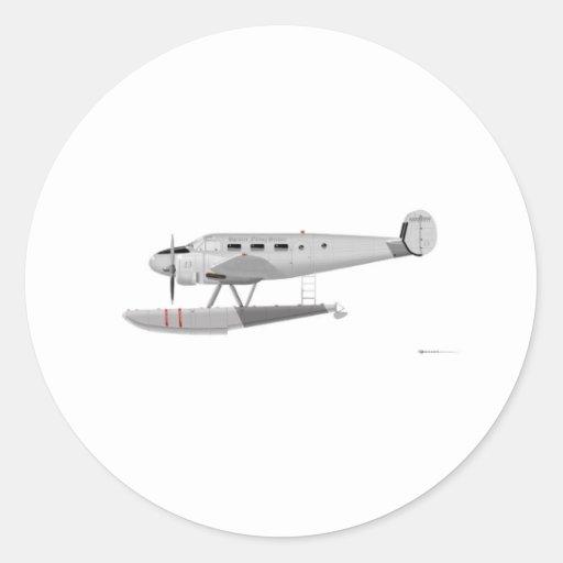 Modelo 18 de la haya en los flotadores pegatina redonda