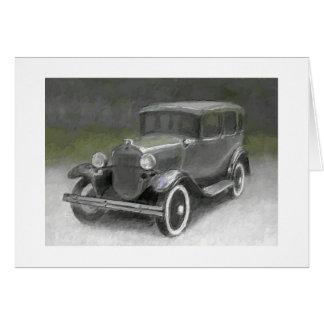 Modelo 1930 un sedán tarjeta pequeña
