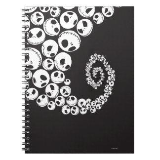 Modelo 1 de Jack Skellington Spiral Notebooks