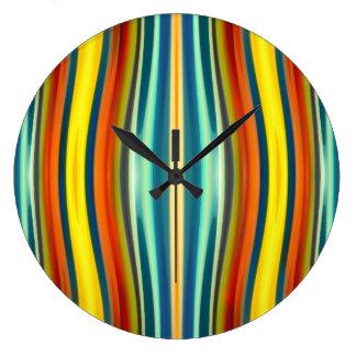 Modelo 1 de la furia del arte abstracto reloj redondo grande