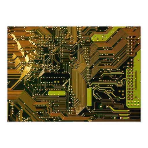 Modelo 1 de la placa de circuito invitacion personalizada