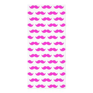 Modelo 1 del bigote de las rosas fuertes y del bla tarjetas publicitarias a todo color