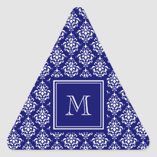 Modelo 1 del damasco de los azules marinos con el pegatina triangular