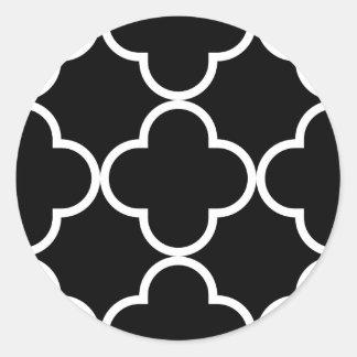 Modelo 1 del trébol blanco y negro pegatina