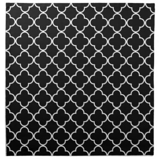 Modelo 1 del trébol blanco y negro servilleta imprimida