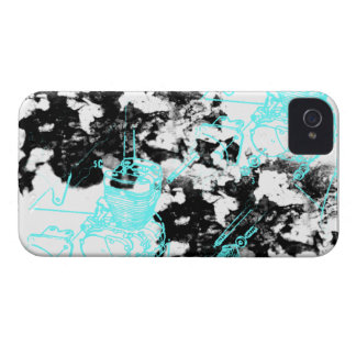 Modelo 222 del Grunge iPhone 4 Case-Mate Protector