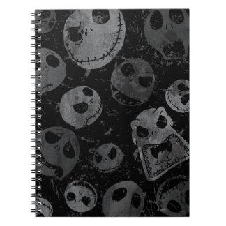 Modelo 2 de Jack Skellington Spiral Notebook