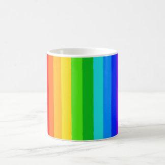 Modelo #2 de la raya del arco iris taza