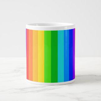 Modelo #2 de la raya del arco iris tazas extra grande