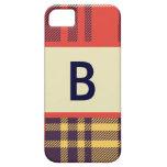 Modelo 2 de la tela escocesa iPhone 5 Case-Mate protectores