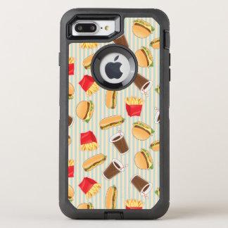 Modelo 2 de los alimentos de preparación rápida funda OtterBox defender para iPhone 7 plus