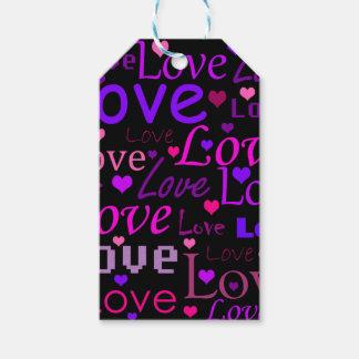 Modelo 2 del amor etiquetas para regalos