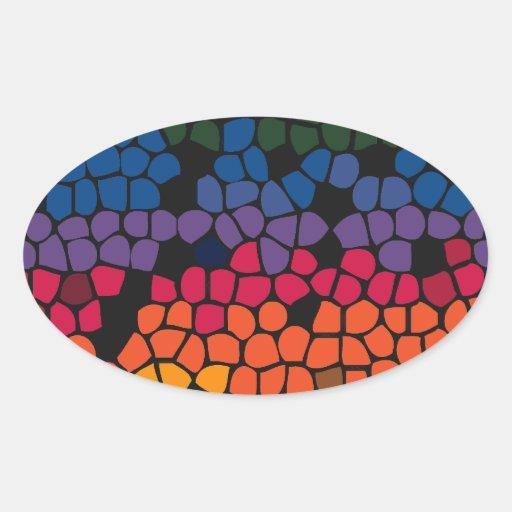 Modelo #2 del arco iris colcomanias de ovaladas