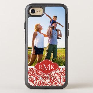 Modelo 2 del coral rojo de la foto y del monograma funda OtterBox symmetry para iPhone 7