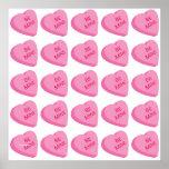 Modelo 2 del corazón de la tarjeta del día de San  Impresiones