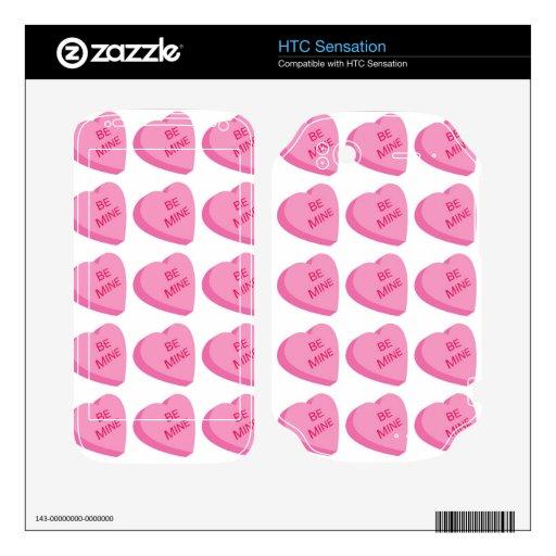 Modelo 2 del corazón de la tarjeta del día de San  Calcomanía Para HTC Sensation