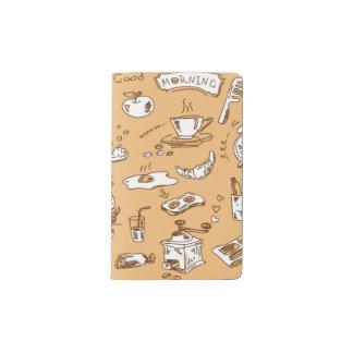 Modelo 2 del desayuno cuaderno de bolsillo moleskine