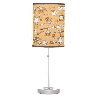 Modelo 2 del desayuno lámpara de mesa