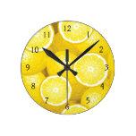 Modelo 2 del limón reloj de pared