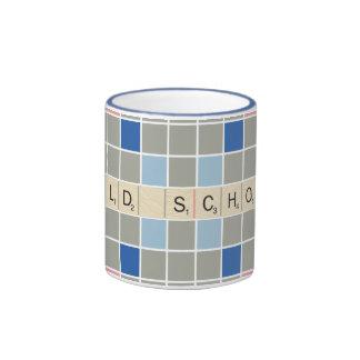 Modelo 2 del Scrabble Taza De Dos Colores