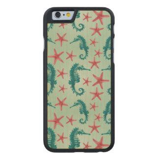 Modelo 2 del Seahorse del trullo Funda De iPhone 6 Carved® Slim De Arce
