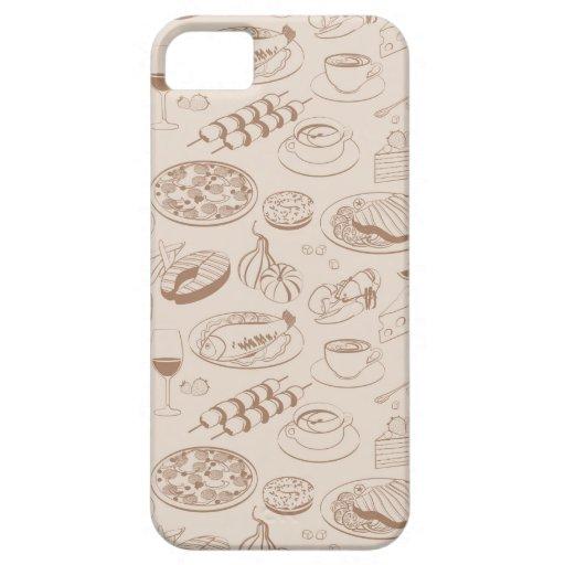 Modelo 3 de la comida iPhone 5 coberturas