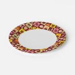 Modelo 3 de la comida plato de papel de 7 pulgadas