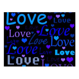 Modelo 3 del amor tarjetas postales
