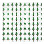 Modelo 3 del árbol de navidad invitación 13,3 cm x 13,3cm