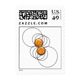 Modelo 3d de 2 baloncestos sellos