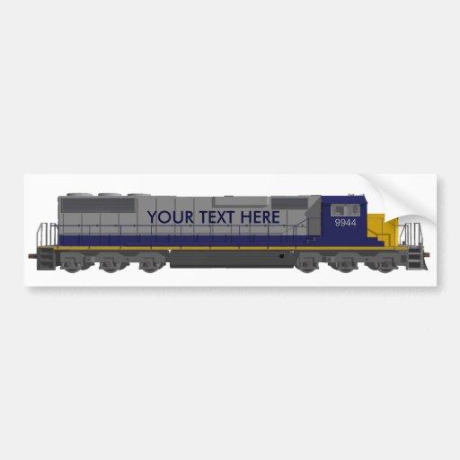 modelo 3D: Motor del tren: Ferrocarril: Etiqueta De Parachoque