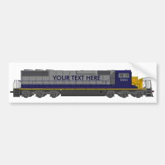modelo 3D: Motor del tren: Ferrocarril: Pegatina Para Auto