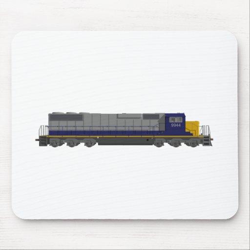 modelo 3D: Motor del tren: Ferrocarril: Tapetes De Raton