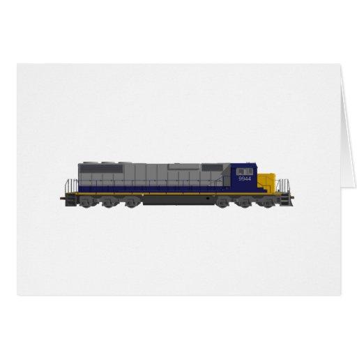 modelo 3D: Motor del tren: Ferrocarril: Felicitaciones