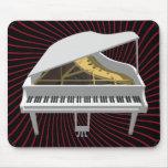 modelo 3D: Piano de cola blanco: Tapetes De Raton