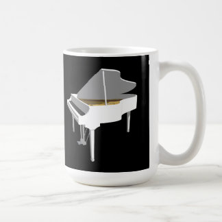 modelo 3D: Piano de cola blanco: Taza Básica Blanca